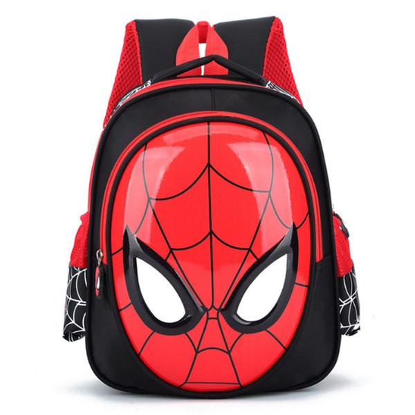 2018 3D 3-6 Year Old School Bags For Boys Waterproof Backpacks Child Spiderman Book bag Kids Shoulder Bag Satchel Knapsack