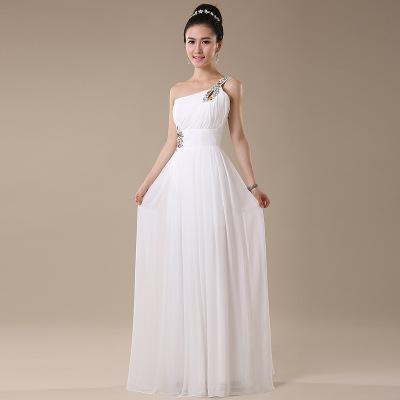 Bridesmaid Dresses One Shoulder Dinner Hosts Evening Dress Banquet Long Formal Party Ball Gown Prom Dress