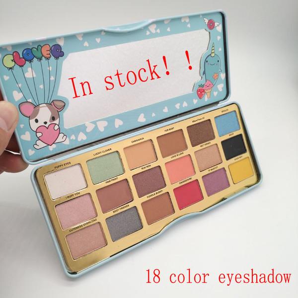 Estoque de qualidade de fábrica Maquiagem Clover enfrentou uma menina melhor amigo paleta de sombras 18 placas de sombra de cor beleza maquiagem Up DHL entrega gratuita