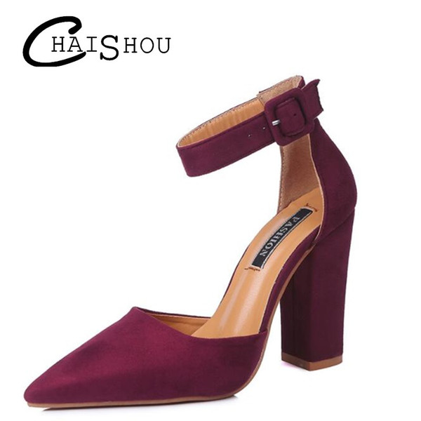 f7692fbed0b3a 2018 New Plus Size 34-43 New High-heeled Shoes Woman Pumps Wedding Shoes