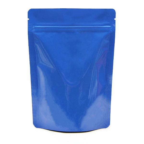 Hoja de Mylar de 13x18 Bolsa Stand Up Ziplock Bolsa De Aluminio Puro colorido almacenamiento de alimentos