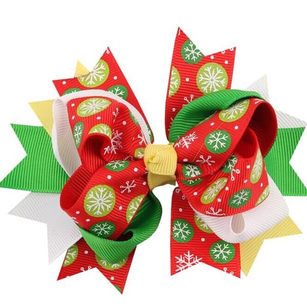Arco do bebê Grampos de Cabelo Fita De Gorgorão De Natal Arcos Com Clip Snow Baby Girl headband Pin Pin Xmas Acessórios fornecimento