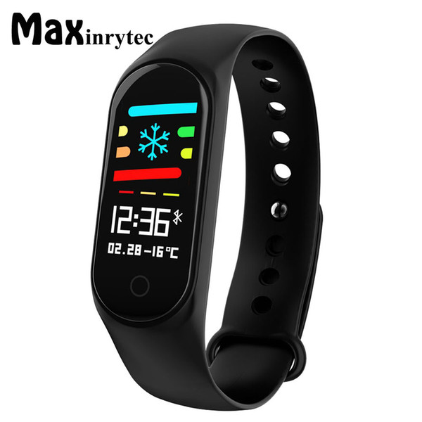 экран Maxinrytec Смарт Цвет браслета IP68 Фитнес Tracker артериального давления Монитор сердечного ритма Смарт полоса для Android телефонов