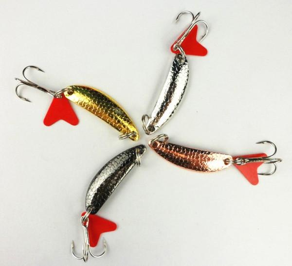 8pcs colher kit de pesca / truta rotativa kit / 4 cm / 5.7g