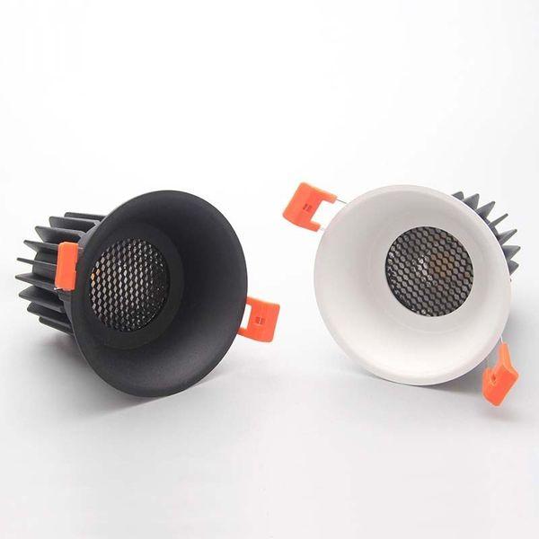 Trumpet background spotlights CREE COB 7W10W12W cellular network anti-glare led living room bedroom home improvement
