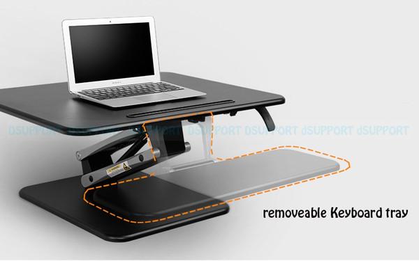 Loctek M3M Höhenverstellbarer Sit Stand Desk Riser Faltbarer Laptop Schreibtisch Notebook / Monitor Halter Ständer mit Tastatur Tray