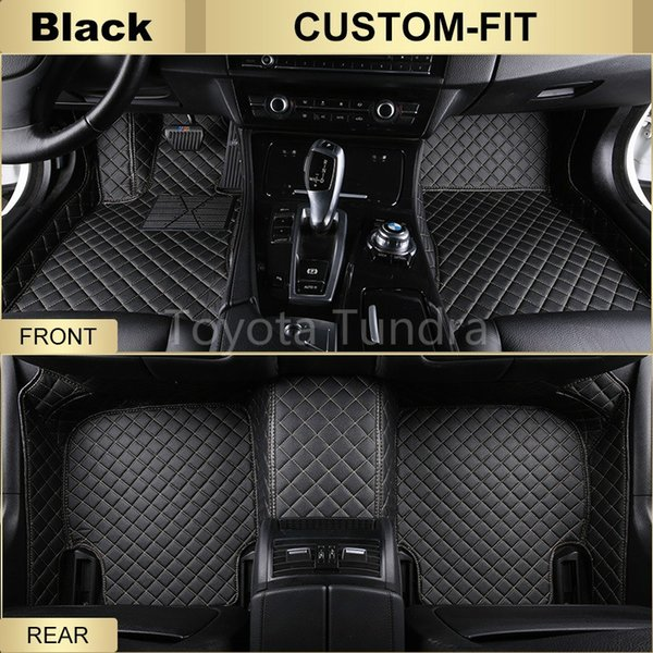 Custom-Fit All Weather Leather Car Floor Mats for Honda Civic 2016-present Waterproof 3D Anti-slip Carpets 4 Colors Free Shipping