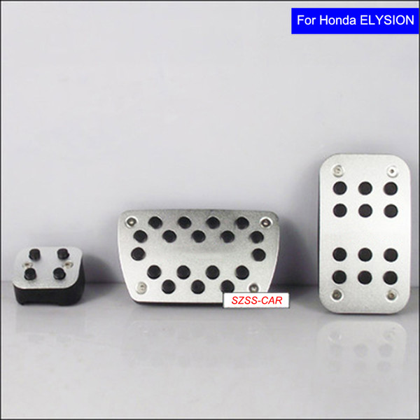 Non-Slip Stainless Rubber Pedal Fuel Brake Foot Rest Pad for Honda Elysion Car Pedals with Logo Free Shipping