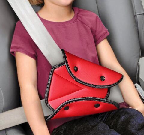 Envío gratis seguro del coche Fit cinturón de seguridad del ajustador robusto del cinturón de seguridad del coche dispositivo de ajuste triángulo bebé protección del niño bebé protector de seguridad