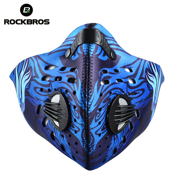 Rockbros Anti Pollution Bike Bicycle City Cycling Face Mask Cover Outdoor Sports Mouth Muffle Dustproof Outdoor Accessories