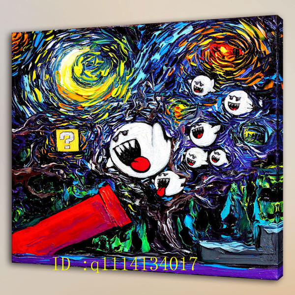 Van Gogh Game Ghosts Art Canvas,HD Canvas Prints Wall Art Oil Painting Home Decor /(Unframed/Framed )