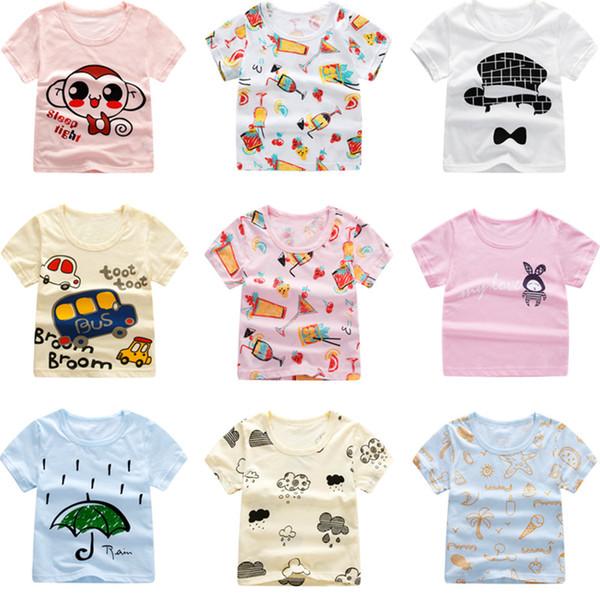 boy clothes girl shirt Cheap T-shirts Boy Tops Tees summer short-sleeved T-shirt cartoon Baby Kids Clothing 2036