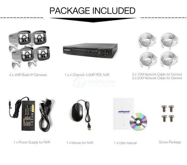 4mp 1080P Kamera HD Überwachungskameras POE IP Kamera Cam h.265//h.264 Nachtsicht