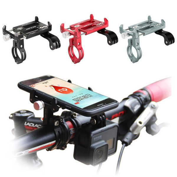 GUB Aluminum Alloy Bicycle Handlebar Mount Holder Bike Phone Stand Cycling Accessory Phone Holder for 4-6 Inch Phone / GPS / Action Camera