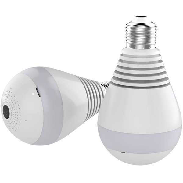 50pcs Wifi IP Camera 1080P Bulb 360 Degree Wi-Fi Fish-eye CCTV Camera 2.0MP Home Security WiFi Panoramic Camera