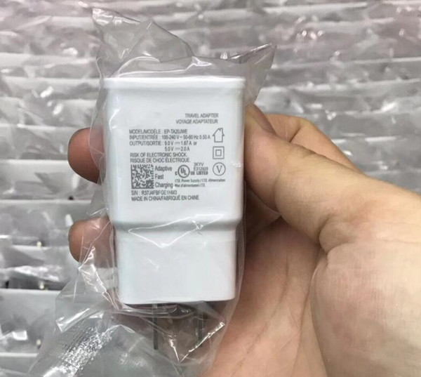 Beste qualität Reise Wand Schnelle EU us-stecker Ladegerät Adapter Für Original Samsung Galaxy S6 7 8 Hinweis 4 Adaptive Schnellladung 100 stücke