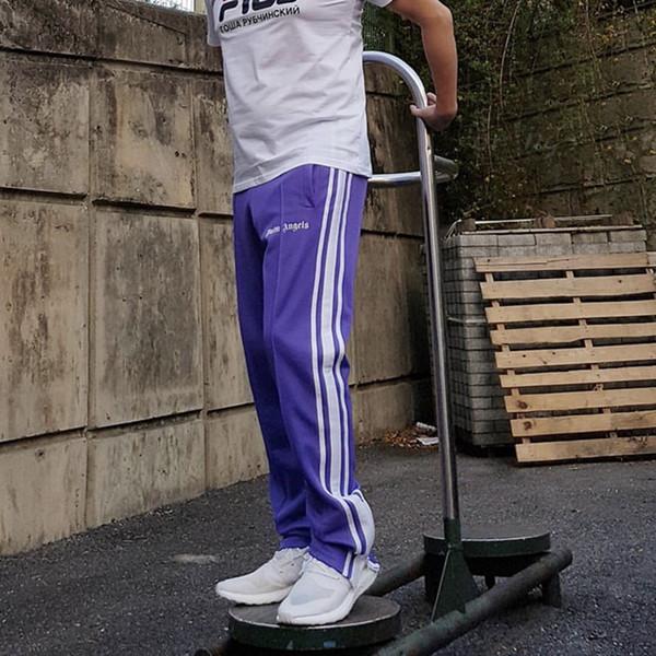 Acheter Palm Angels Pantalon De Jogging Rétro Old School Purple Hommes  Pantalon Trois Barres Pantalon De Mode Hip Hop Joggers Pantalon Sport  Casual