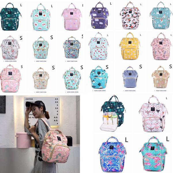 21styles mamãe sacos de impressão floral mãe bolsa multifuncional fralda maternidade mochila de viagem sacos de enfermagem ao ar livre unicórnio mochila gga889