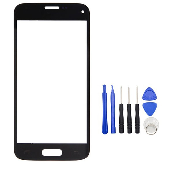 Touch Screen Outer LCD Front Screen Glass Lens Cover For Samsung Galaxy S5 mini G800 G800F G800A with Tools Kits