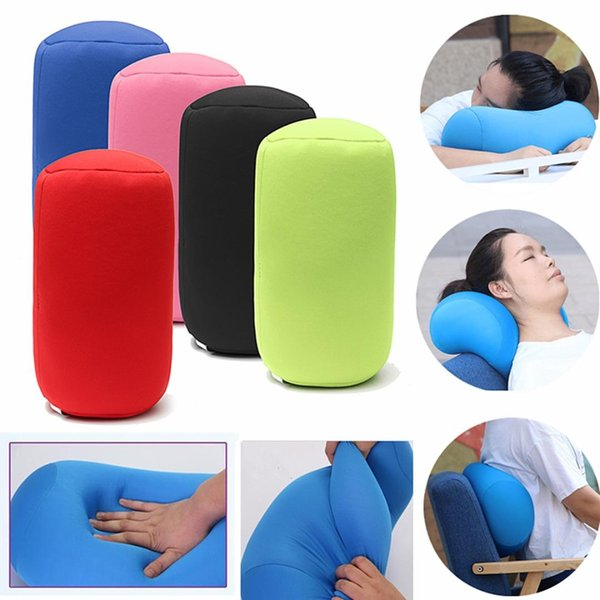 Amazing Microbead Head Rest Support Back Cushion Waist Cervical Pillow Airplane Office Travel Bed Sleep Neck Pillow Home Pillows White Couch Pillows From Theyellowbook Wood Chair Design Ideas Theyellowbookinfo