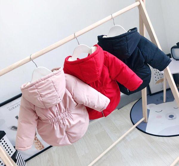 top popular Factory direct 2018 new children's down cotton women's baby plus velvet padded cotton children's cotton jacket coat children's clothing whol 2021