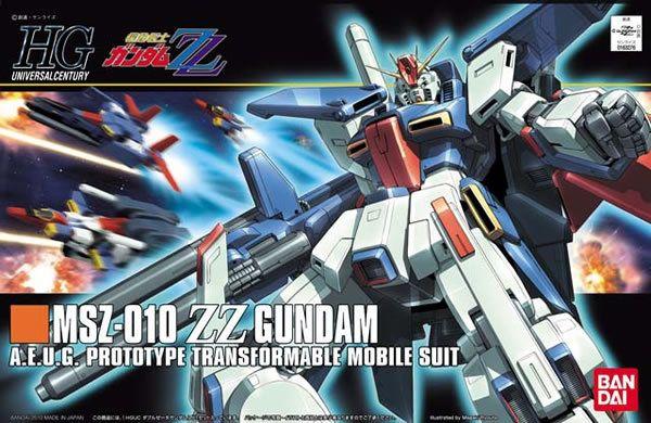 1PCS Bandai HG 1/144 HGUC 111 MSZ-010 ZZ Gundam Mobile Suit Assembly Model Kits Anime action figure Gunpla