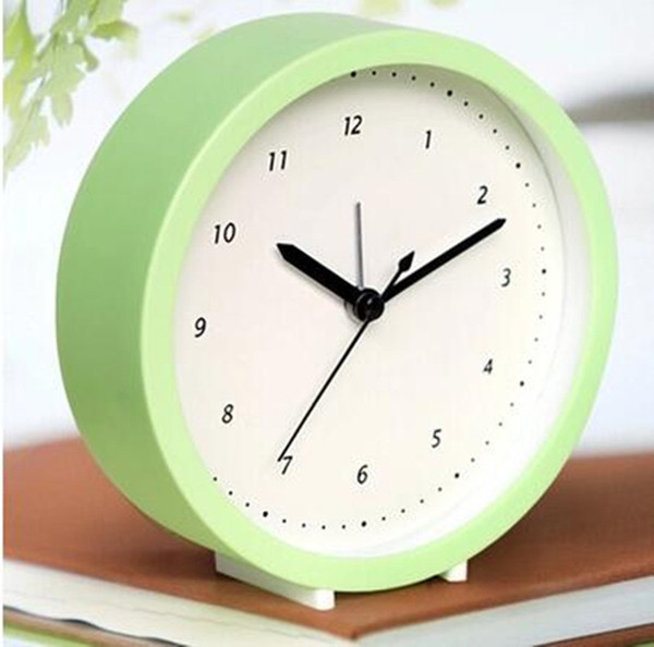 Creative students children simple alarm clock Quiet bedroom bedside clock Digital and clear fashion table