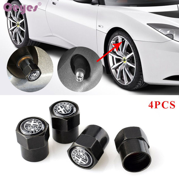 Car wheel tire valves for Alfa romeo 159 156 147 mito gt tyre stem air caps car accessories styling 4pcs/lot