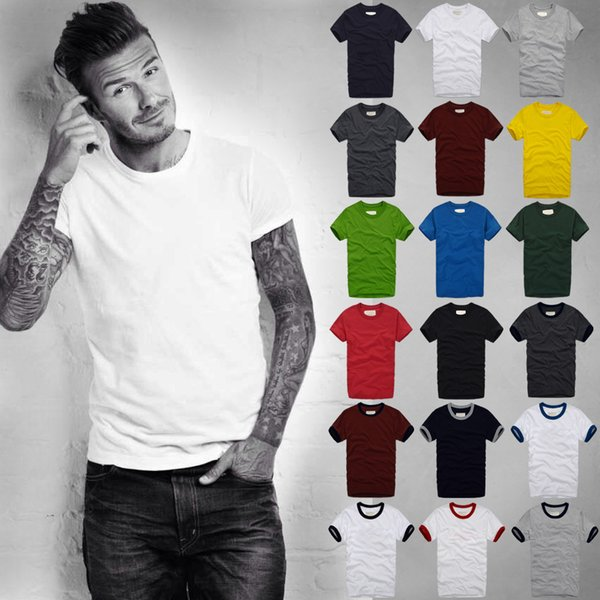 Wholesale Men's 2018 New Tide In Summer Cotton Short Sleeved T-shirt Japanese Style Large Size Men's Clothing Combed Cotton Shirt T-shirt