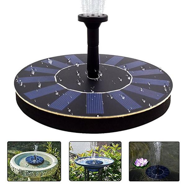 Solar Fountain Pump Bird Bath 1.4w Portable Solar Outdoor Fountain for Small Pond, Patio Garden 35--65cm high