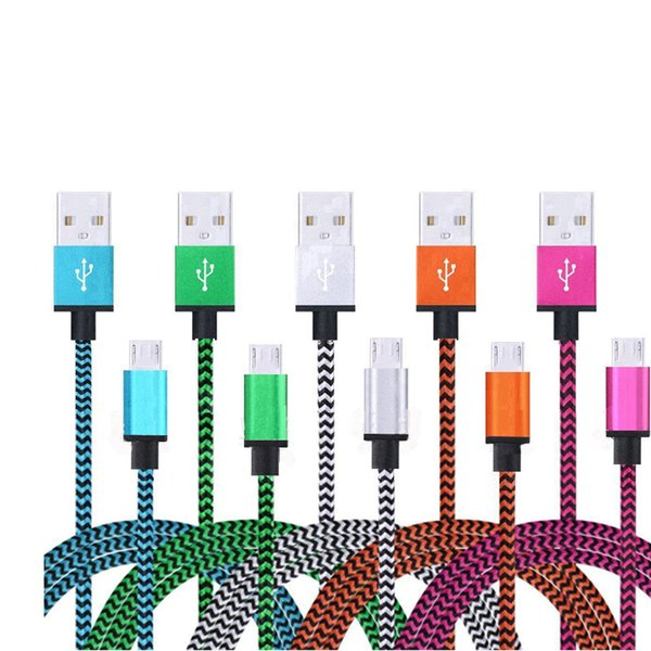 200cm/300cm Long Micro USB Cell Phone Charger Woven Cable Phone Charging Data Cable 2/3 Meter For Redmi note 5 4x J5 J3 LG g4 Xperia Xa
