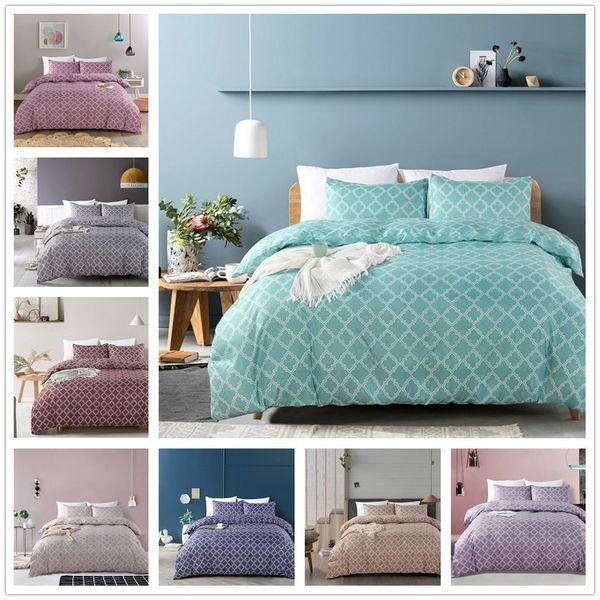 2018 Sale Simple Style Boho Duvet Cover Set 3Pcs Microfiber Fabric Striped Geometric Twin Queen King Duvet Covers Home Bedding Set