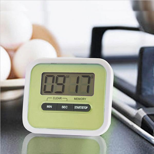 Free shipping by dhl Christmas Gift Digital Kitchen Count Down/ Up LCD display Timer /clock Alarm with magnet stand clip lin3432