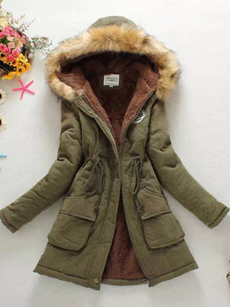 New high Fashion Women's X-Long parka large real racoon fur Hooded Coat Outwear natural color Military Winter Jacket