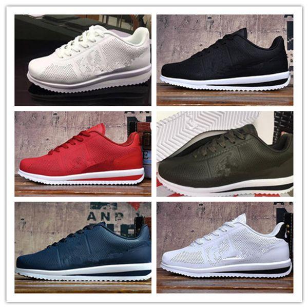 2019 venta caliente clásico yin y yang Hombres Mujeres Primavera Casual Racer Cortez Shoes Leisure Nets Shoes Leather Brand Sneakers tamaño 36-45