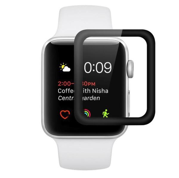 Für Apple Watch iWatch 3D gebogene Kante Vollbild-Abdeckung 38 mm 42 mm gehärtetes Glas Schutzfolie mit Kleinpaket