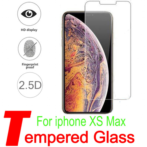 For iPhone XS Max IphoneX 5 6S iPhone8 7Plus NEW iphoneXR XS MAX Top Quality Best Price Tempered Glass Screen Protector 0.33MM 2.5D H12