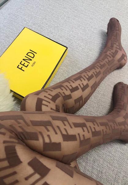 4 renkler marka F harfi bb logosu kadın tayt Siyah Külotlu çorap seksi ince romper ipek çorap kadın yaz seksi Tayt bayanlar dantel çorap