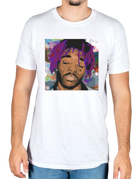 Lil Uzi Cartoon Face T-shirt Money Longer Xo Tour Short Sleeve Men T Shirt Tops Summer Print Tees Short Sleeve O - Neck