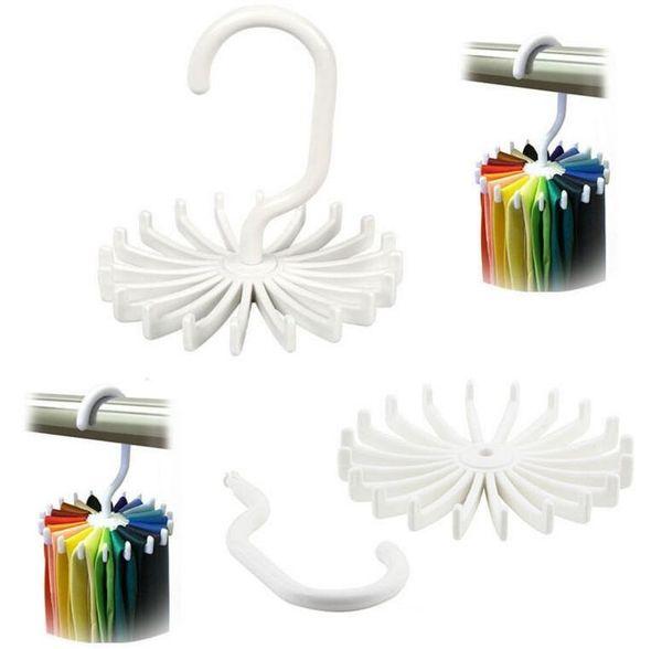 100pcs rotante Tie Rack Organizer Hanger Closet Organizer Hanging Storage Sciarpa Rack Tie Rack contiene 20 Neck Ties Hook