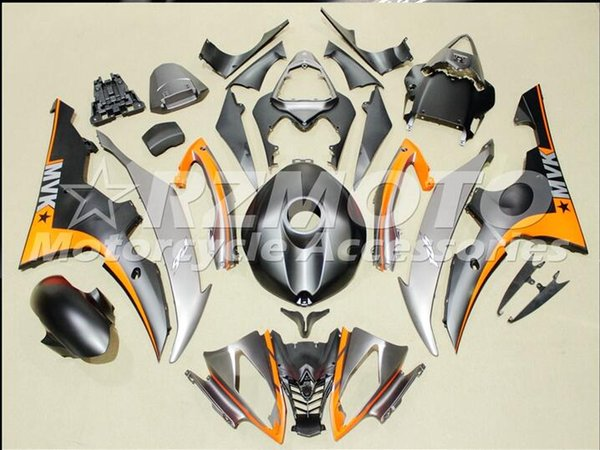 Injection mold New Fairings For Yamaha YZF-R6 YZF600 R6 08 15 R6 2008-2015 ABS Plastic Bodywork Motorcycle Fairing Kit Silver Orange d12