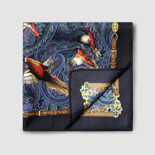 Nuovi arrivi di alta qualità moda fazzoletto da taschino per uomo stampa floreale Paisley jacquard intrecciato da uomo con scatola regalo