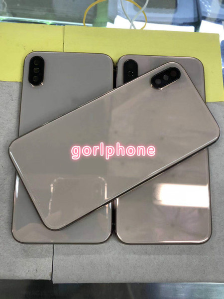 2018 hot for iPhone X Back Housing Metal Frame Battery Door Replacement for iPhone x real gold Gold housing back part but for XS gold style