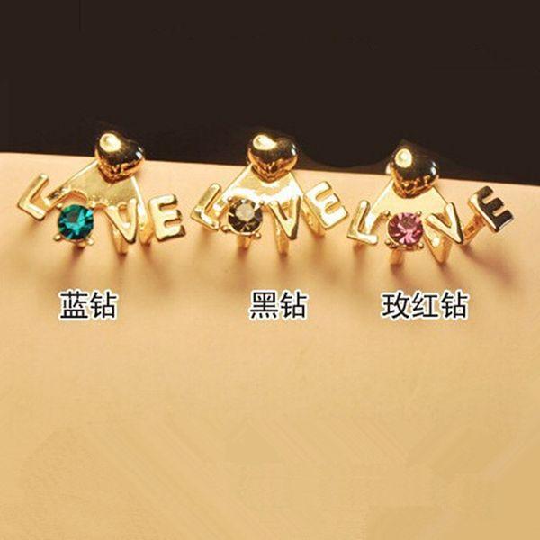 Korean petits ornements tempérament de mode exquis LOVE unique lettre oreille oreille main décorer TJ59 xiangl bijoux noël C18110801