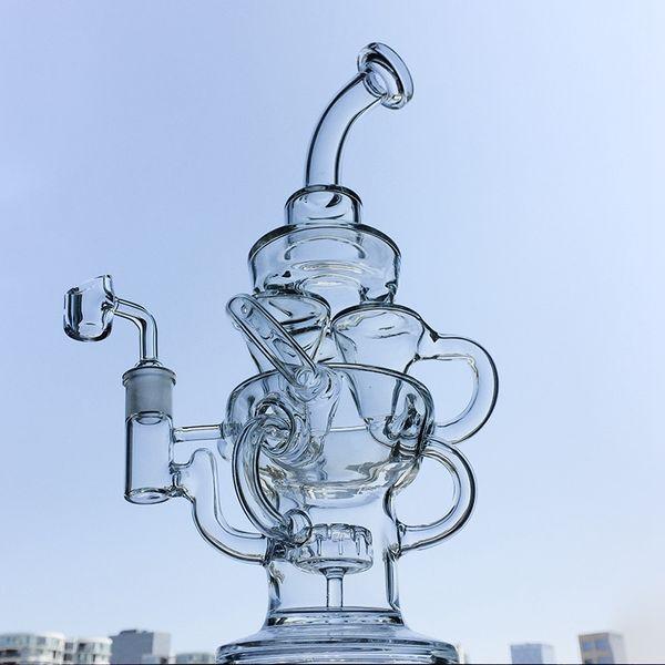 5 мм толщиной переработчик стекла бонги с насадкой перк Торнадо Бонг Dab буровой установки циклон вихревые бонги стекла водопроводные трубы чаша Banger
