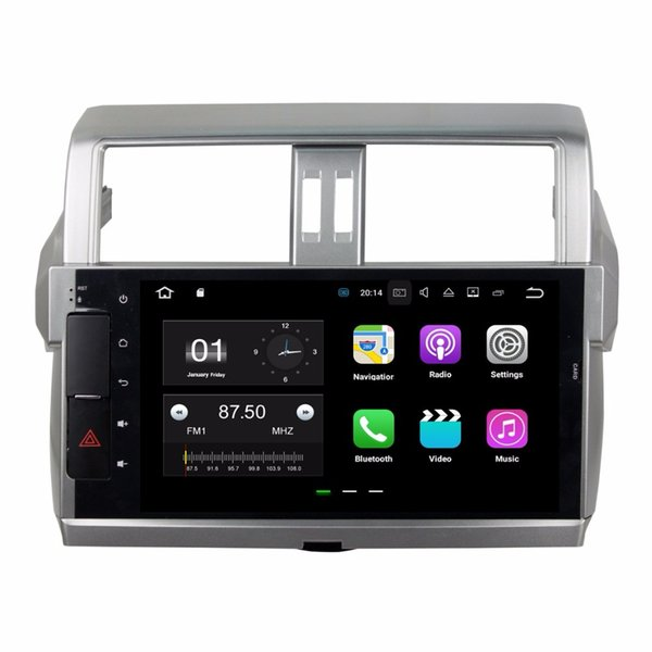 "2GB RAM Quad Core 10.1"" Android 7.1 Car DVD Player for Toyota Prado 150 2014 2015 2016 With Radio GPS WIFI Bluetooth 16GB ROM"
