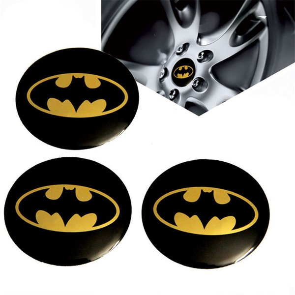 4pcs/lot Universal Bat Pattern Car Wheel Hub Centre Cover Caps Emblem Badge Sticker Logo Car Styling for Universal Cars Moto