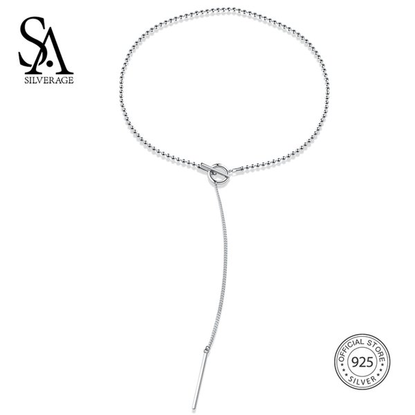 SA SILVERAGE 925 Sterling Silver Vintage Chains Necklaces For Women With Popcorn Chain colar collier femme New Year Gifts 14.9g Y1892806
