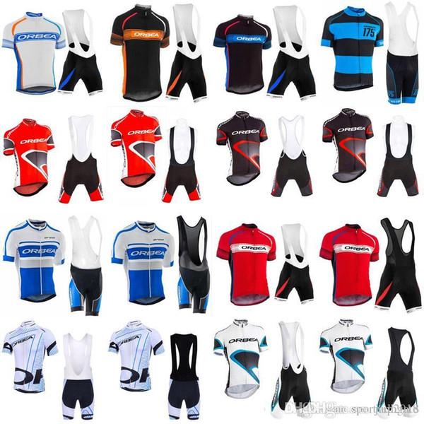 2018 Orbea Pro Men Team Short Sleeve Set Summer Cycling jersey bicycle clothing ropa ciclismo maillot Bike Bib Shorts Sportswear 33010