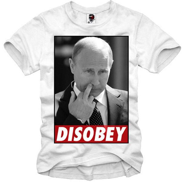 E1SYNDICATE T-GÖMLEK VLADIMIR PUTIN WLADIMIR UKRAYNA KRIM DISOBEY 1407c Kalite T Shirt Erkekler Baskı Kısa Kollu O Boyun Tshirt